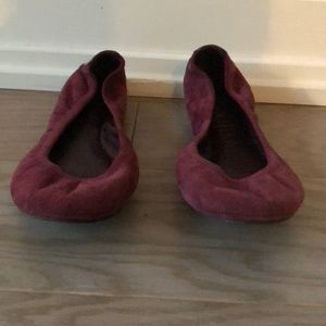 Tory Burch Maroon Suede Flats Size 6